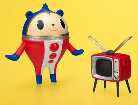 Persona 4 PVC Statuen Twin Pack Teddy & TV