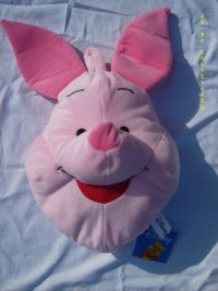 Disney Kissen Schwein Plüsch mit Tasche für Pyjama 35cm