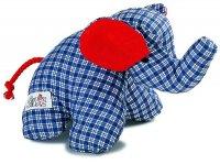 SILKE Mini-Elefant. blau 16cm