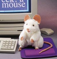 Handpuppe Weisse Maus 20 cm