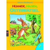 Hühner, Hasen, Osterrätsel. Mit Lösungskontrolle