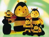 Plüsch Biene