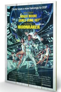 James Bond Holzdruck Moonraker One-sheet 40 x 60 cm