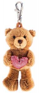 Schlüsselanhänger Teddy mit Herz ca. 12 cm