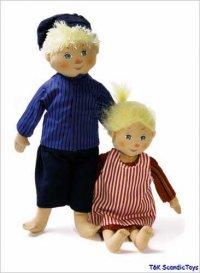 Michel und Ida- Puppenset 26 cm + 22 cm
