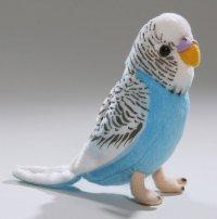 Wellensittich dunkelblau 13 cm