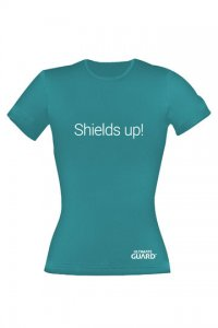Ultimate Guard Girlie T-Shirt Shields Up! Petrolblau
