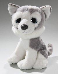 Husky sitzend mit großen Augen 19 cm