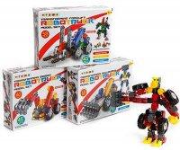 Bausteine set Robot LKW in box3  24x18cm 3-fach sortiert