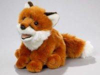Fuchs sitzend dunkel 21 cm