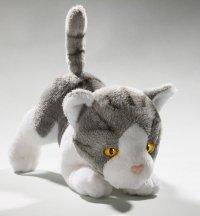 Katze grau 18 cm