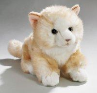Katze liegend beige 23 cm
