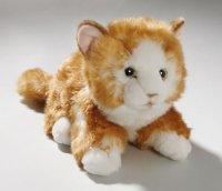 Katze liegend braun 23 cm