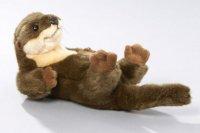 Otter liegend ca. 22cm, 32cm mit Schwanz