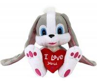 Kaninchen mit lange Ohren und Herz 17 cm