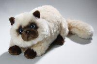 Perserkatze liegend Siamkatze 30 cm