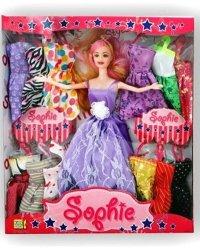 Teenager-Sophie mit zusätzlich sortierter Kleidung