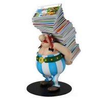Asterix Collectoys Statue Obelix trägt Bücherstapel 21 cm
