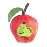 Handpuppe Wurm im Apfel