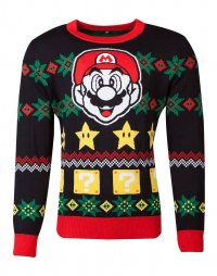 Nintendo Pullover Christmas Super Mario Night