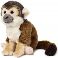 Gibbon Affe mit Klett 27cm sitzend, 42cm mit Beinen, 50cm hängend