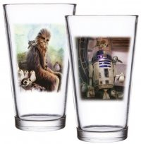 Star Wars Episode VIII Gläser 2er-Pack Chewbacca & R2-D2