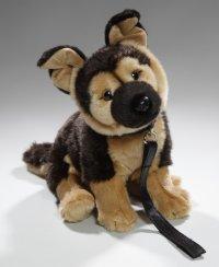 Schäferhund sitzend mit Leine 25 cm