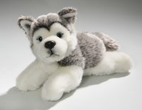 Husky Welpe liegend 20 cm