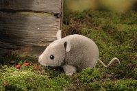 Kösener-Maus, graubraun, Mohair