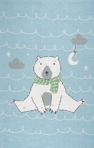 Teppich, Eisbär hellblau, print, 100x160 cm