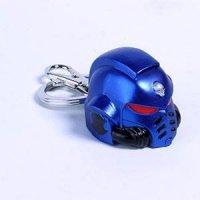 Warhammer 40K Metall-Schlüsselanhänger Space Marine Primaris Helmet Ultramarine