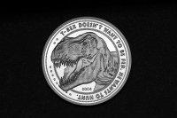 Jurassic Park Sammelmünze 25th Anniversary T-Rex Silver Edition