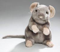 Maus grau aufrecht stehend 16 cm