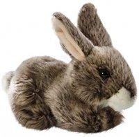 Plüsch Hase sitzend braun 17 cm