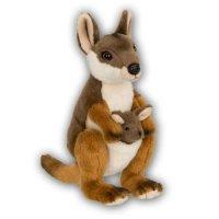 WWF Plüschtier Känguru mit Baby 19 cm