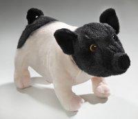 Plüsch Schwein schwarz-rosa stehend 26 cm