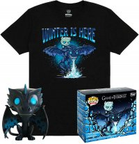 Game of Thrones POP! & Tee Vinyl Figur & T-Shirt Set Icy Viserion heo Exclusive