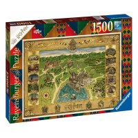 Harry Potter Puzzle Hogwarts Karte (1500 Teile)