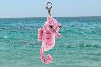 Anhänger Glitzer & Glamour Seepferdchen pink ca. 12 cm