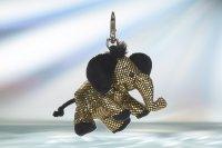 Anhänger Glitzer & Glamour Elefant gold ca. 12 cm