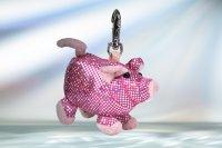 Anhänger Glitzer & Glamour Schwein ca. 12 cm
