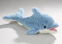 Plüsch Delfin mit Stimme und offenem Mund blau 48 cm