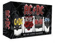 AC/DC Schnapsgläser 4er-Pack Black Ice
