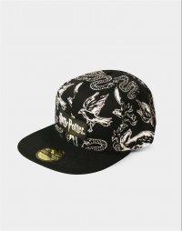 Harry Potter Snapback Cap Heraldic Animals BW